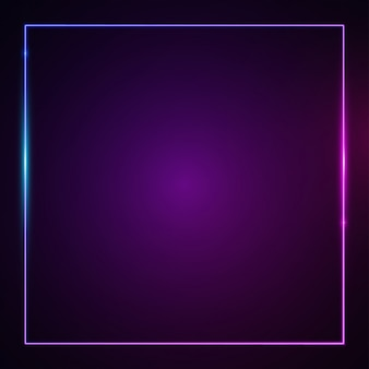 Efeito de luz brilhante quadrado.