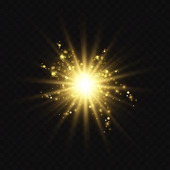 Efeito de luz brilhante.