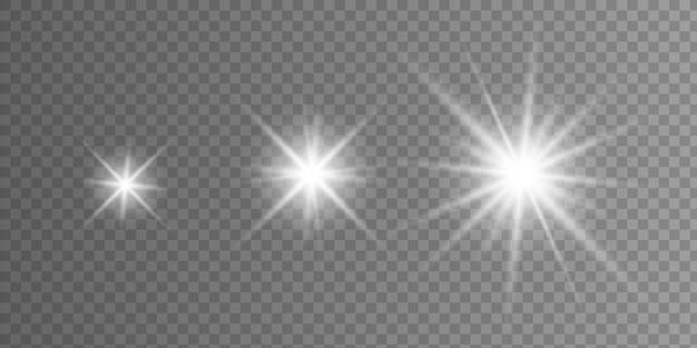Efeito de luz brilhante Vetor Premium