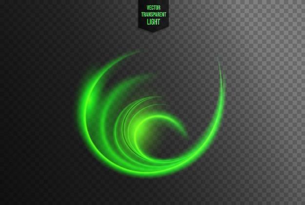 Efeito de luz circular abstrato
