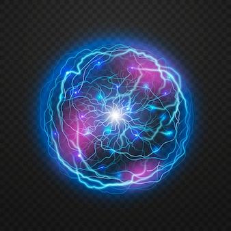 Efeito de luz com bola elétrica