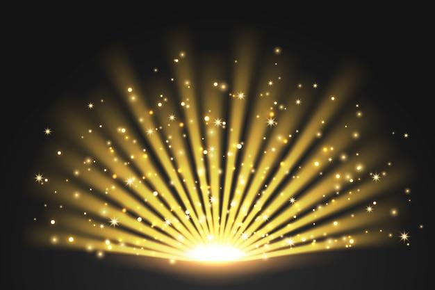 Efeito de luz com o nascer do sol