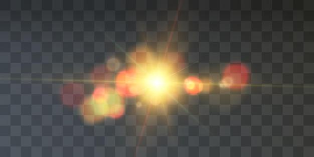 Efeito de luz com raios e destaques star cosmos vector