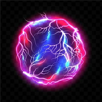 Efeito de luz de bola elétrica luminosa