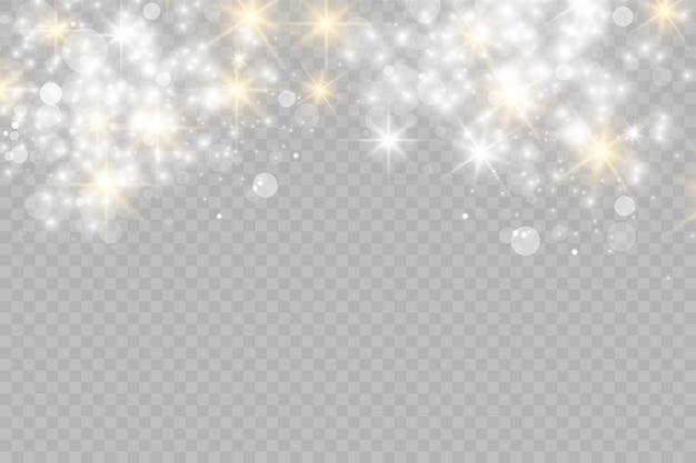 Efeito de luz de brilho. poeira estelar