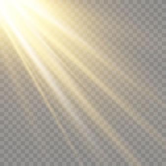 Efeito de luz de brilho. star explodiu com brilhos.