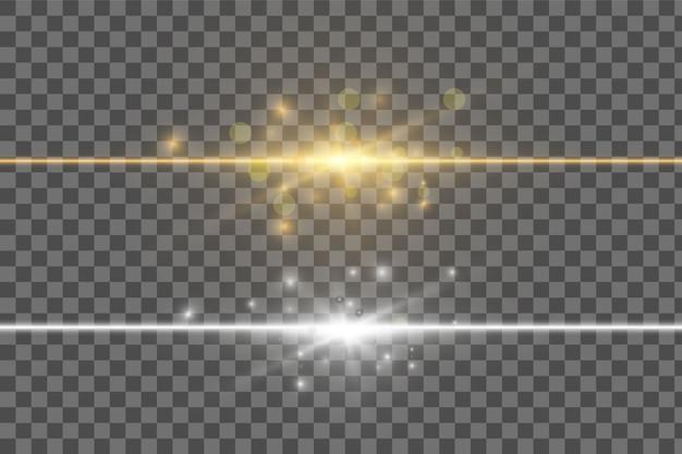 Efeito de luz de brilho transparente em fundo transparente