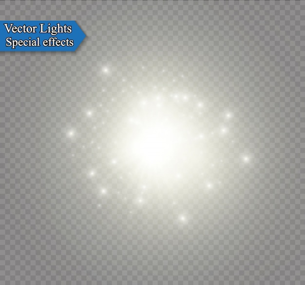 Efeito de luz de brilho.