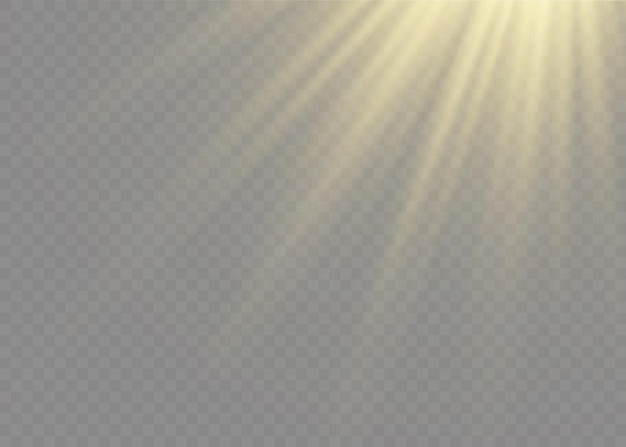Efeito de luz de flash de lente especial de luz solar transparente. flash de lente solar frontal. borrar à luz do esplendor. elemento de decoração. raios estelares horizontais e holofote.