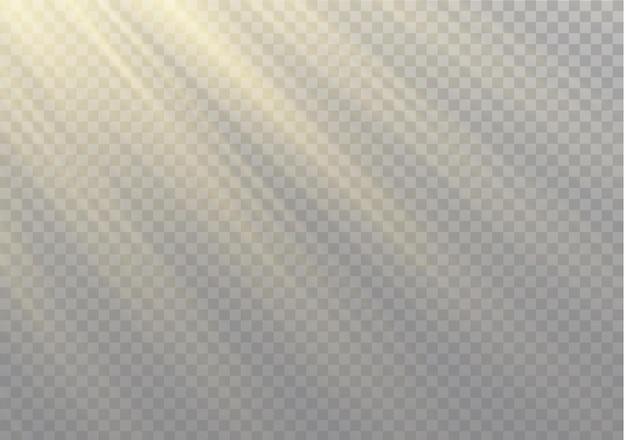 Efeito de luz de flash de lente especial de luz solar transparente.