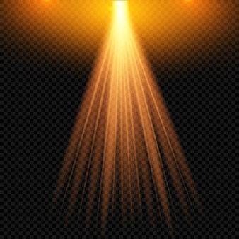 Efeito de luz de flash de lente especial de luz solar transparente