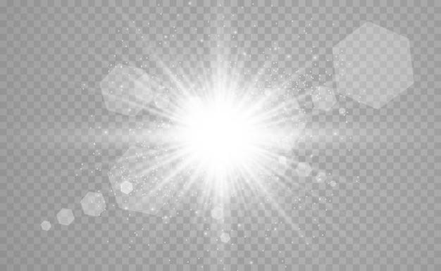 Efeito de luz de flash de lente especial