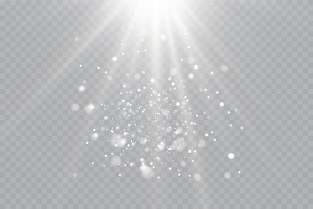 Efeito de luz de flash transparente
