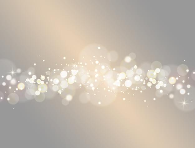 Efeito de luz de fundo abstrato bokeh.