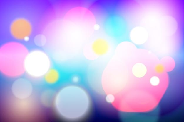 Efeito de luz de fundo desfocado bokeh