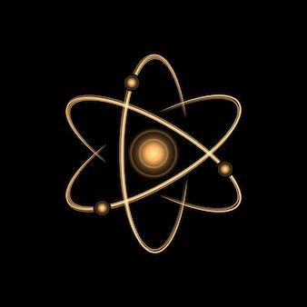 Efeito de luz de ouro atom