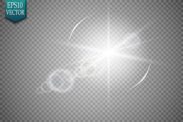 Efeito de luz de reflexo de lente especial de luz solar transparente