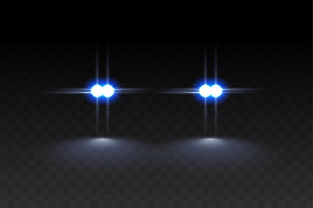 Efeito de luz de sinalizadores de carros