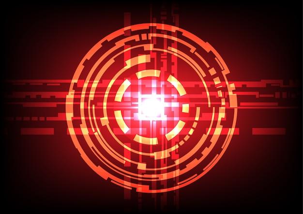 Efeito de luz do círculo abstrato fundo vermelho escuro