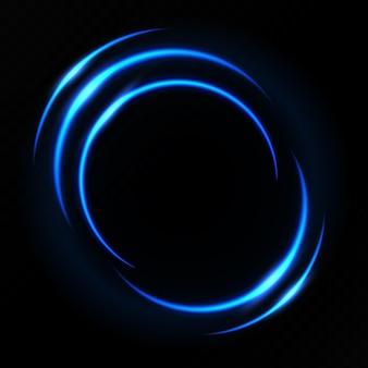 Efeito de luz do círculo azul