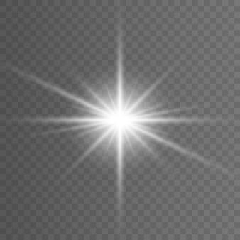 Efeito de luz do flash da lente do specil da luz solar transparente do vetor.