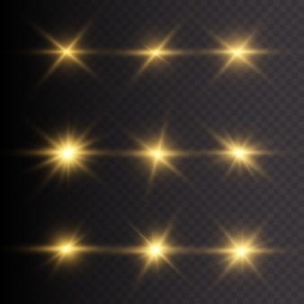 Efeito de luz do flash de lente especial de luz solar transparente de vetor. flash de lente de sol frontal borrão de vetor à luz do esplendor. elemento de decoração