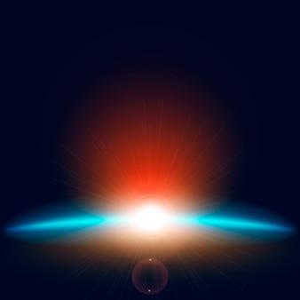 Efeito de luz do nascer do sol turva