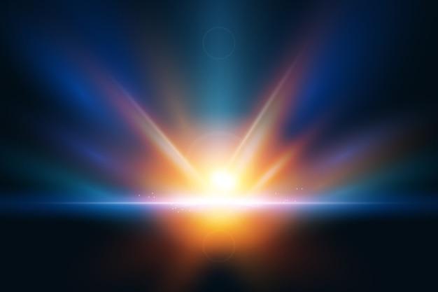 Efeito de luz do nascer do sol