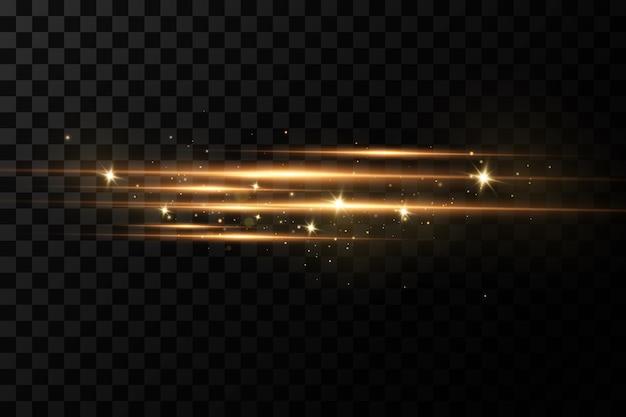 Efeito de luz dourada