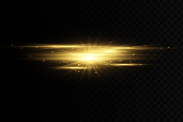 Efeito de luz dourado elegante.