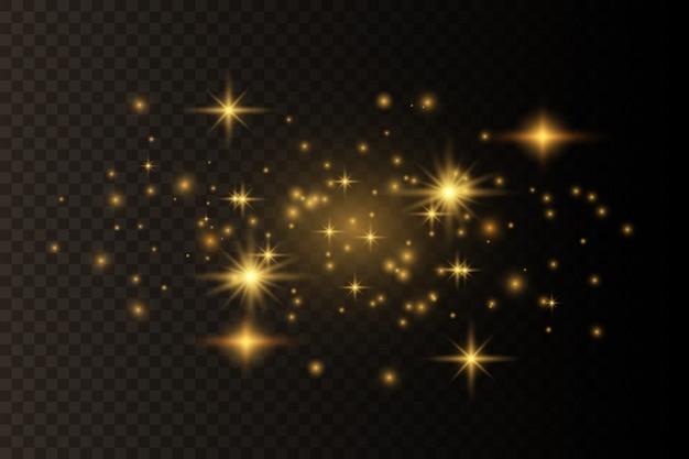 Efeito de luz elegante abstrato sobre um fundo preto transparente
