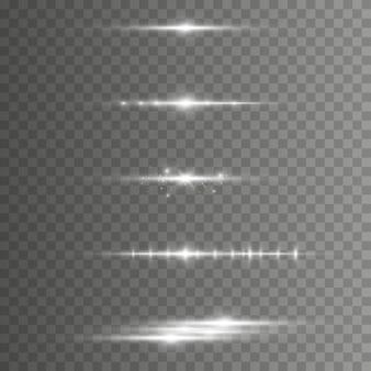 Efeito de luz elegante. feixes de laser abstratos de luz.