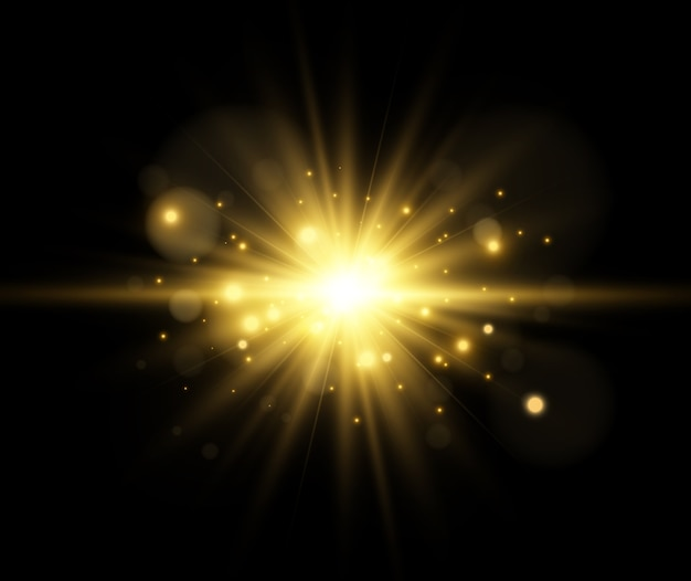 Efeito de luz em um fundo transparente