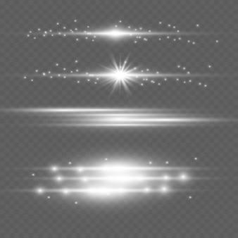 Efeito de luz especial de brilho, flare, estrela e faísca isolado. luzes do vetor