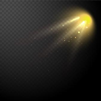 Efeito de luz especial do alargamento da lente da luz solar transparente do vetor.