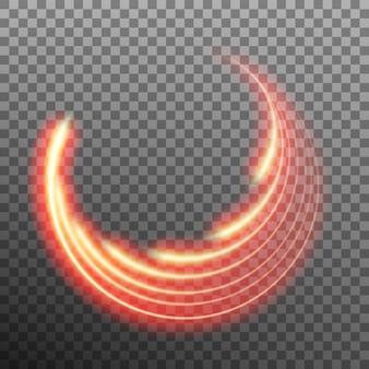 Efeito de luz estrela trilha com neon blur.