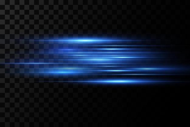 Efeito de luz. feixes de laser abstratos de luz. raios de luz neon caóticos.