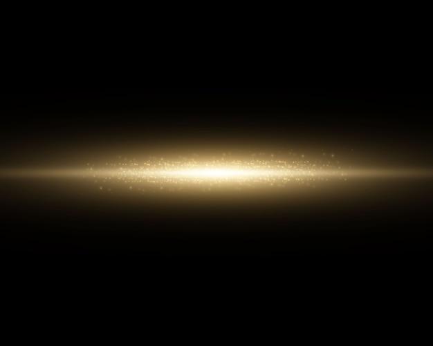 Efeito de luz. feixes de luz horizontais abstratos.