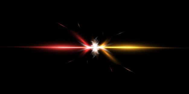Efeito de luz futurista