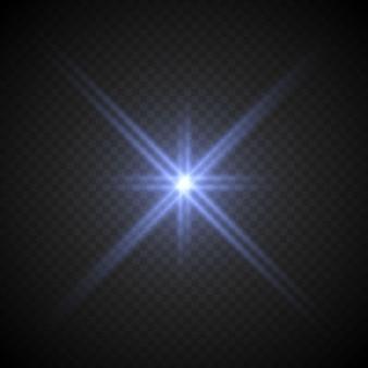 Efeito de luz lense flare