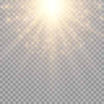 Efeito de luz no céu, explosão