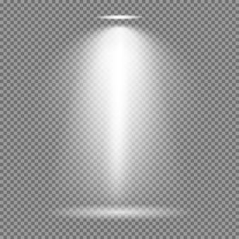Efeito de luz no fundo transparente. coleção de vetores de luzes brilhantes