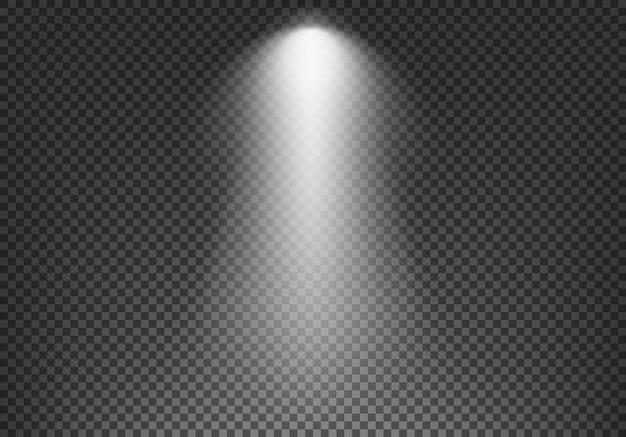 Efeito de luz no fundo transparente.