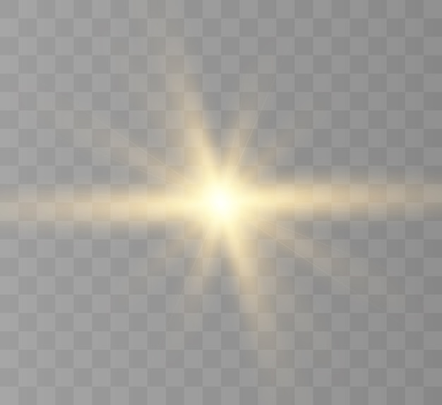 Efeito de luz para fundos e ilustrações sol brilhante estrela nova