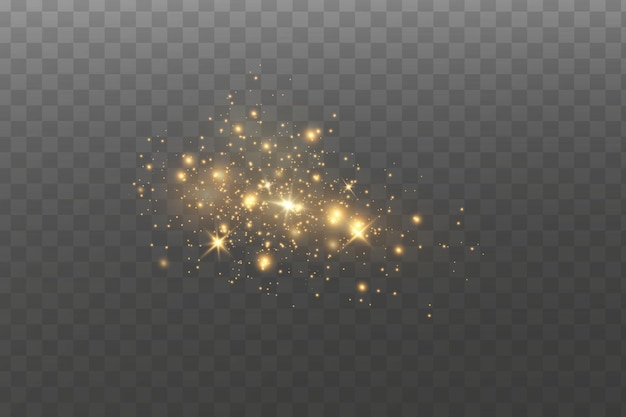Efeito de luz. partículas de poeira cintilantes.