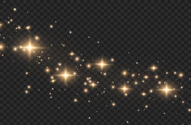 Efeito de luz. partículas de poeira mágica cintilantes