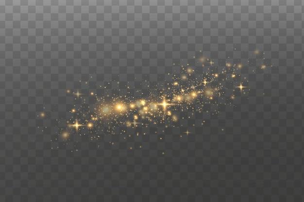 Efeito de luz. partículas de poeira mágica cintilantes.