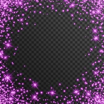 Efeito de luz rosa em fundo transparente, brilhando