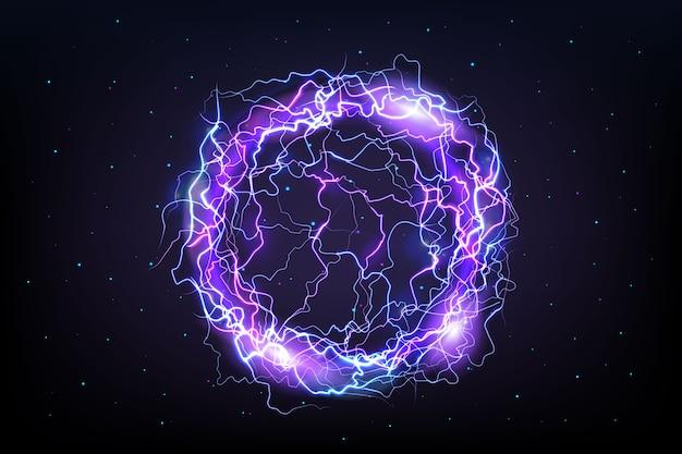 Efeito de luz roxo bola elétrica