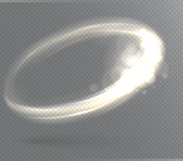 Efeito de luz transparente circular.